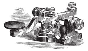 Morse Telegraph Illustration