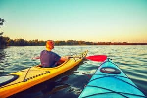 Best Touring Kayak Under Sunset