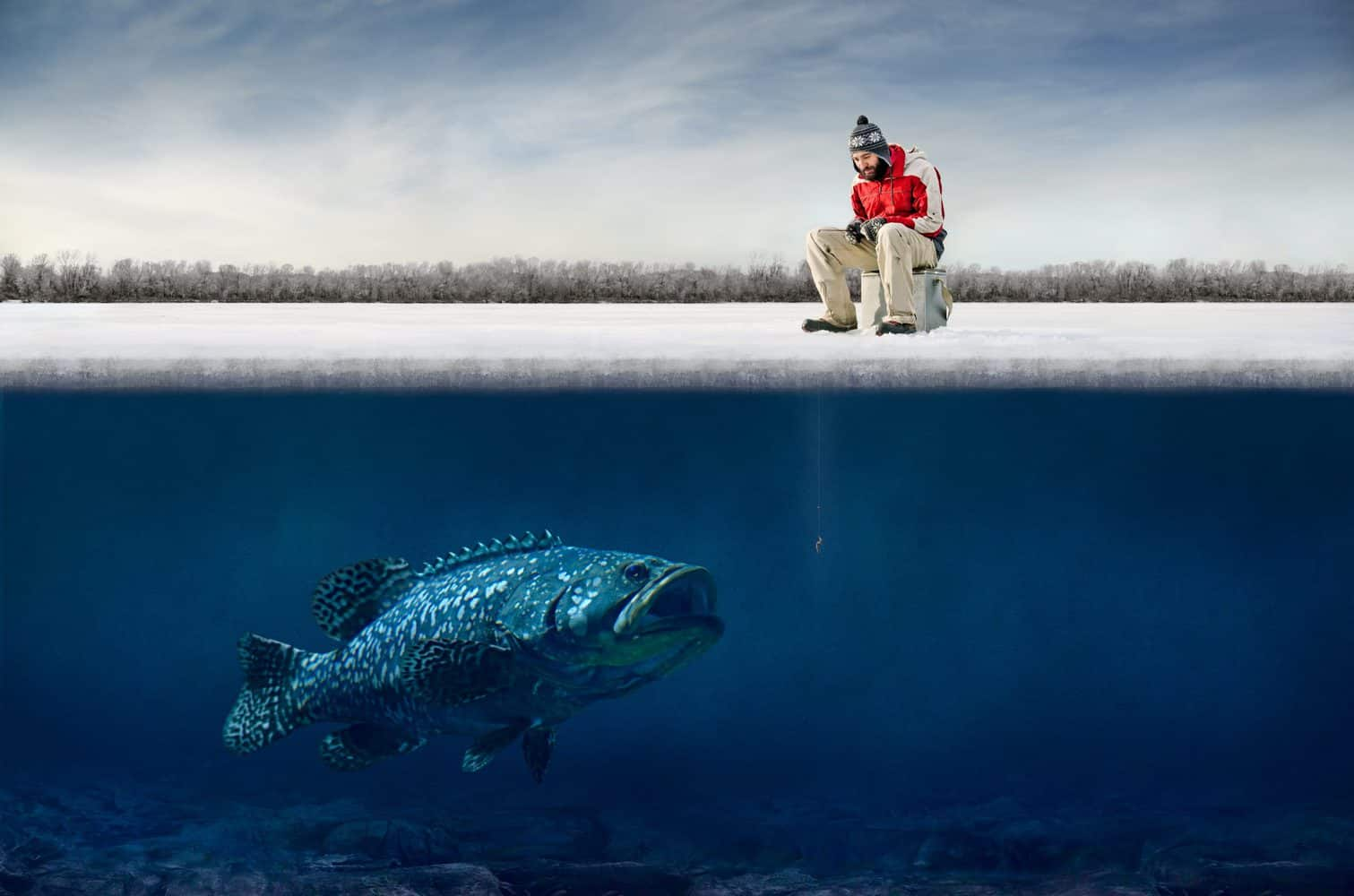 Funny Ice Fishing Picture