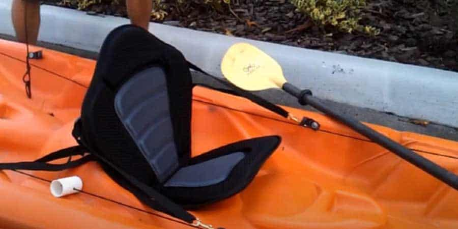 Pactrade Marine Adjustable Straps Black Gray Padded Deluxe Kayak Seat
