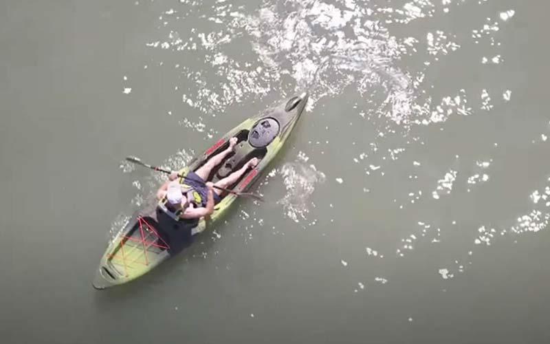 Pactrade Marine Adjustable Straps Black Gray Padded Deluxe Kayak Seat FI